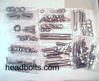 Engine & accessory fastener kit chevy six 194 230 250 292 Stainless Steel bolts